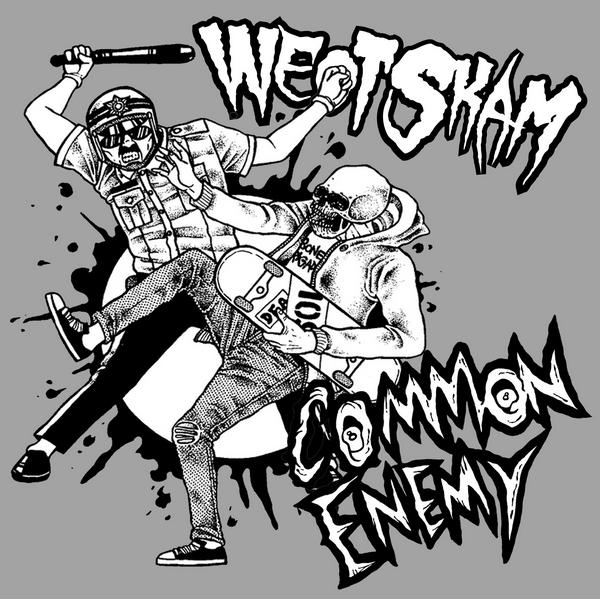 "Common Enemy / Weot Skam ""When Cops Attack"" Split 7"" - Overdose On Records"